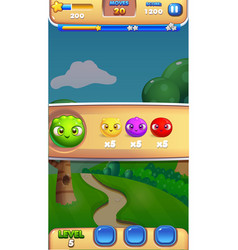 gampeplay intro mobile game user interface gui vector image