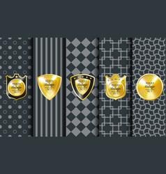 Golden vintage pattern on dark background vector