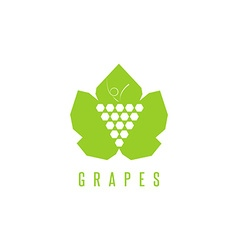 grapes logo winemaking mark bunch of vector image