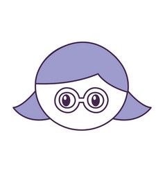 Head girl with glasses expression vector