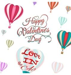 Heart-shaped hot air balloons EPS 10 vector