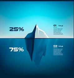 iceberg material infographics structure design vector image