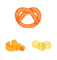 Isolated object food and crunchy logo vector