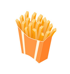 isometric french fries takeaway vector image