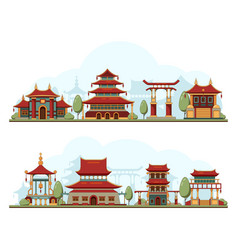 Japan landscape traditional china cultural vector