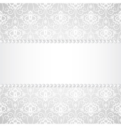lace background with pearls and ribbon vector image