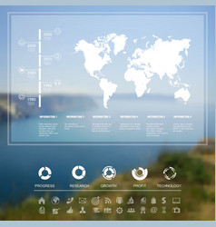 Landscape infographic vector image