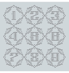 Line Numbers vector image