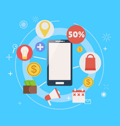 m-commerce phone banner vector image