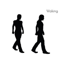 Man in Walking pose on white background vector