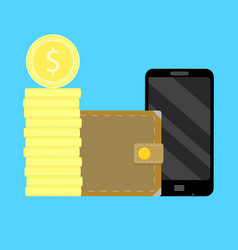 mobile account replenishment vector image