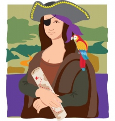 Mona Lisa pirate vector