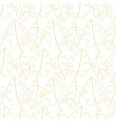 monstera leaf tropical leaves seamless pattern vector image