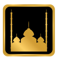 Mosque button on white vector
