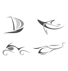 organic style symbols vector image vector image
