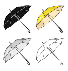 Parasol icon in cartoon style isolated on white vector