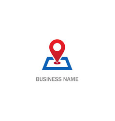 pin position gps location logo vector image