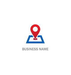 Pin position gps location logo vector