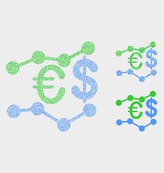 Pixel financial trends icons vector