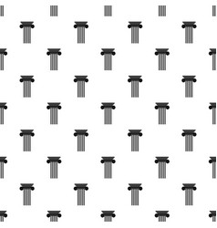 polyhedral column pattern seamless vector image