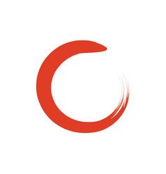 red zen circle vector image