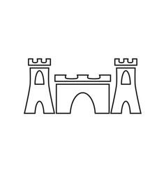 sand castle black icon vector image