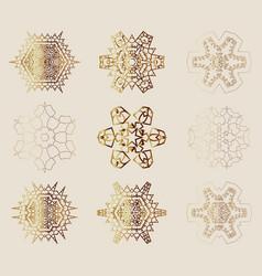 Set snowflakes vector