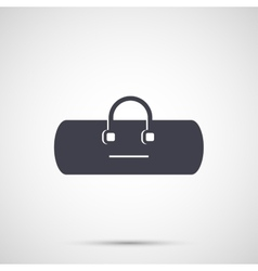 Sport bag with handles icon vector