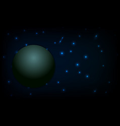 star space background and planet vector image