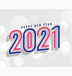Stylish 2021 new year background in line style vector