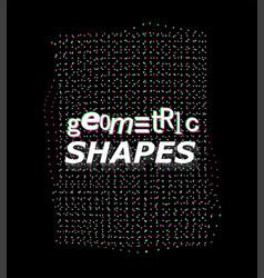 Synthwave digital shape vector