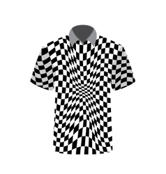 T-shirt depicting abstract psychedelic vector image