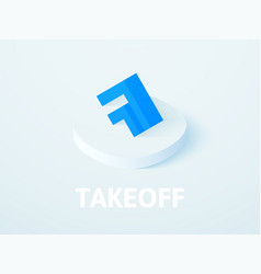 takeoff isometric icon isolated on color vector image