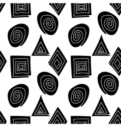 The pattern of black and white geometric shapes vector