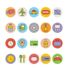 Travel colored icons 6 vector