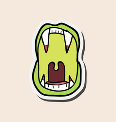 Vampires teeth icon isolated art vector