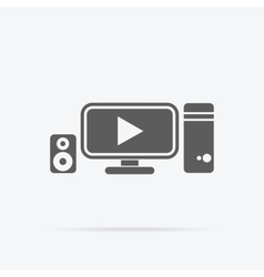 Video Promotion Icon Flat Design vector image