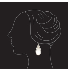 Woman with earring vector