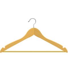 Wooden hanger vector