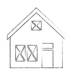 wooden house structure icon vector image