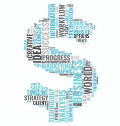 Word cloud business concept dollar sign from text vector