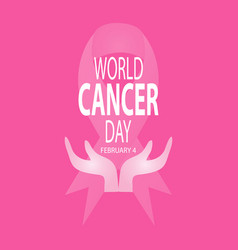 world cancer day concept february 4 vector image