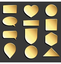 Yellow icons set vector