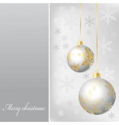 silver balls vector image