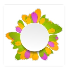Abstract bright flower design vector image vector image