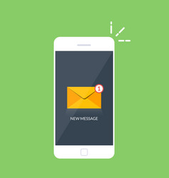 notification of an incoming email letter to a vector image vector image