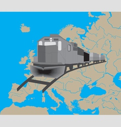 Train in Europe vector image vector image