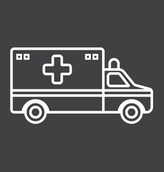 ambulance line icon medicine and healthcare vector image