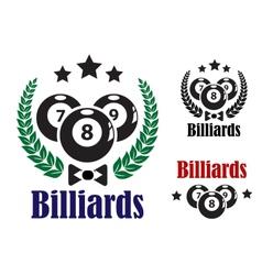 Billiards badges or emblems vector