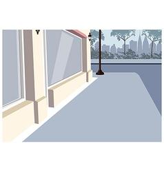 City sidewalk scene vector